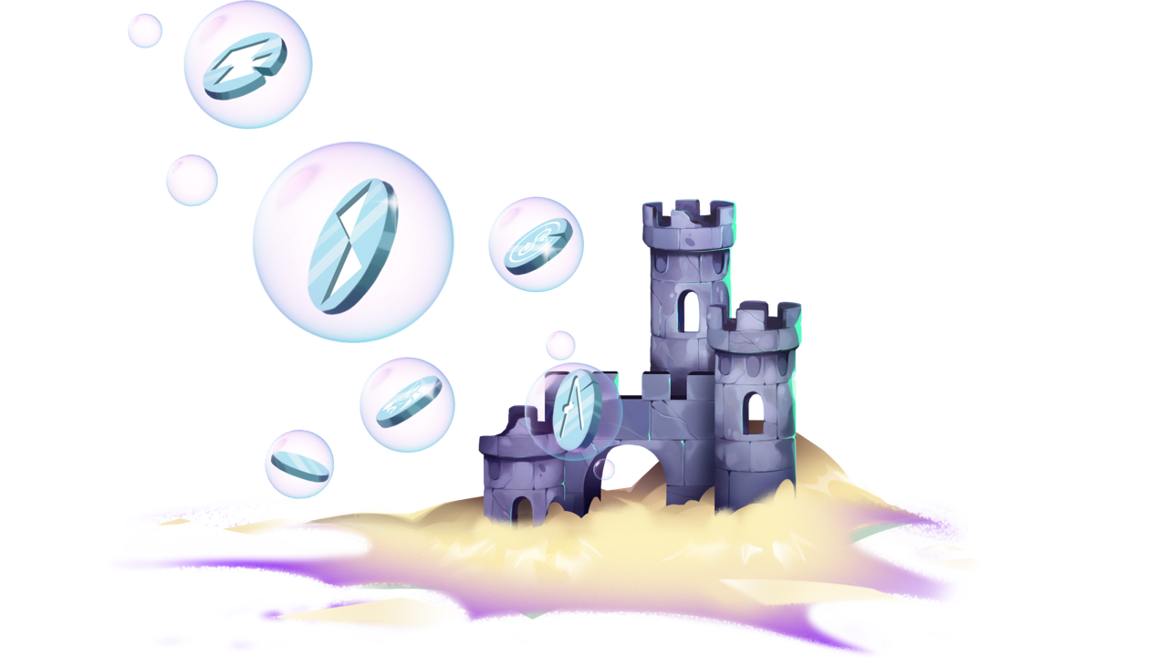 Safe and Secure XDEFI castle with Thorchain, Aave, Tezos tokens