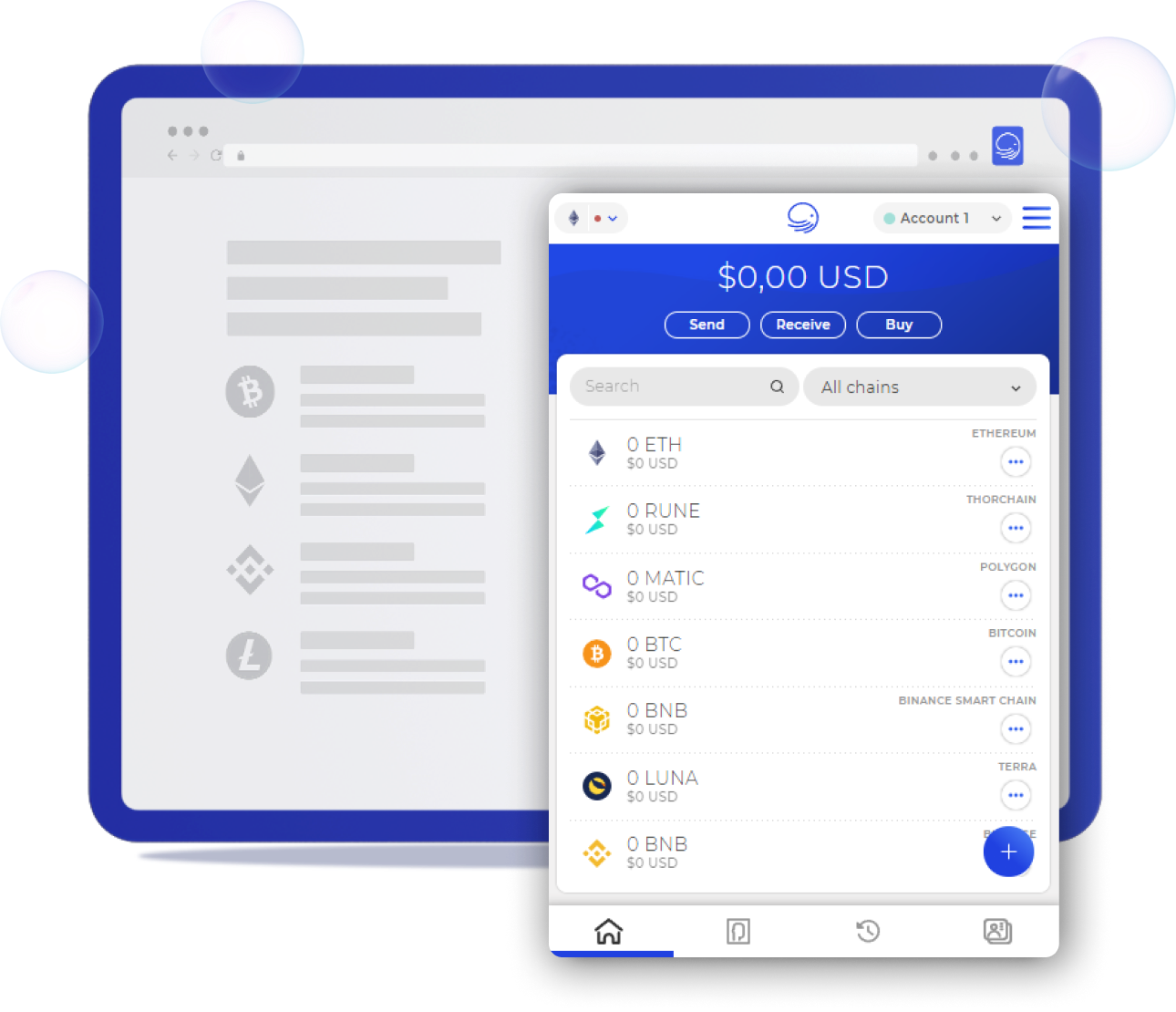 Multichain View with XDEFI Wallet